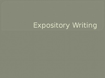 Expository Writing PowerPoint