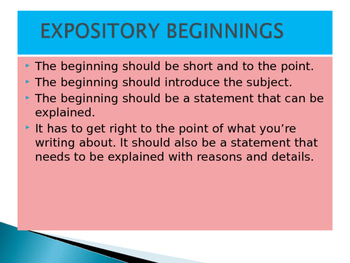 Expository Writing Powerpoint Game