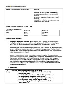 Expository Writing Prep-Lesson (ELL Standards Included)