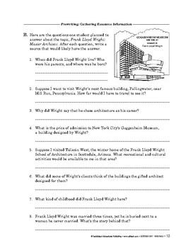 Expository Writing: Prewriting: Gathering Resource Information
