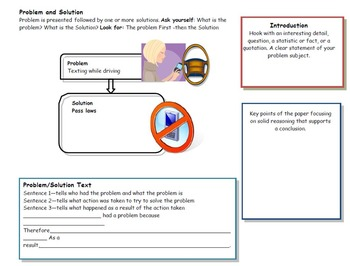 Expository Writing Problem and Solution PowerPoint and Organizer