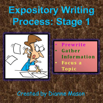 Expository Writing Process: Stage 1 Prewriting