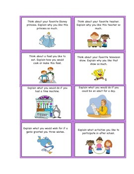 Expository Writing Prompt Cards