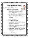 Expository -STAAR- Writing Prompt Cards and Interactive Ac