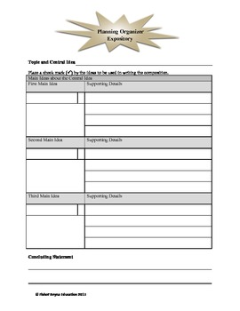 Expository Writing Prompt & Planning Guide: Saving Money