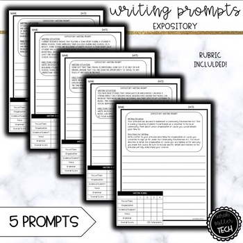 Expository Writing Prompts (5 Prompts)