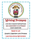 Expository Writing Prompts Each Complete within its Own Graphic Organizer Web