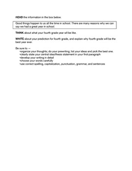 STAAR-Formatted Expository Writing Prompts (8 Different)