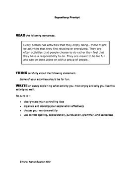 8th grade expository writing prompts Expository writing prompts on a variety of topics.