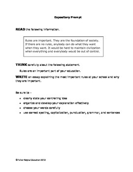 expository writing prompts 4th grade
