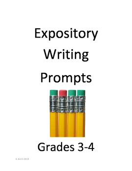 Expository Writing Prompts Packet