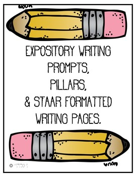 Expository Writing Prompts, Plan Sheets, Rough and Final Draft Pages