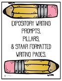 Expository Writing Prompts, Plan Sheets, Rough and Final D