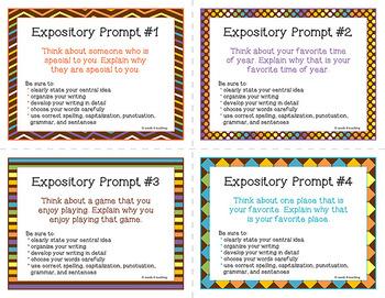 Expository Writing Prompts **Spanish/English Bundle**
