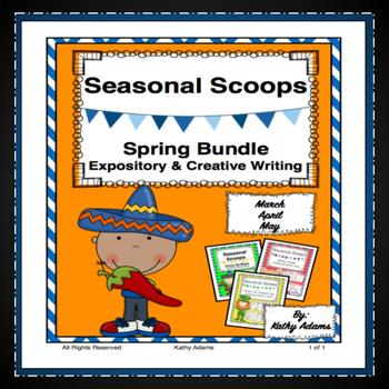 Expository Writing Prompts Spring Bundle