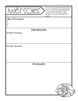 Expository Writing Prompts Step by Step in English & Spanish
