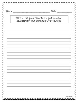 Expository Writing Prompts Task Cards
