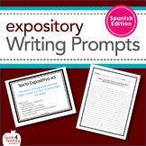 Expository Writing Prompts Task Cards **Spanish Edition**