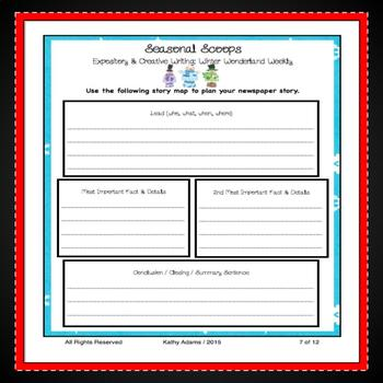 Expository Writing Prompts Winter BUNDLE