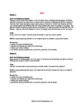 Expository Writing Prompts for Middle School