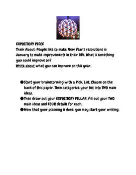 Expository Writing Prompts for Nov-Jan