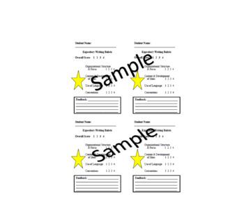 Expository Writing Quick Scoring Rubric
