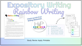 Expository Writing: Rainbow Writing