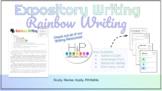Expository Writing: Rainbow Writing