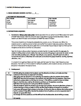 Expository Writing & Reading Exercise (ELL Standards Included)