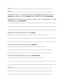 Expository Writing Rough Draft Template