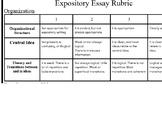 Expository Writing Rubric STAAR TEA