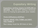 Expository Writing (STAAR/EOC) PowerPoint and Test BUNDLE