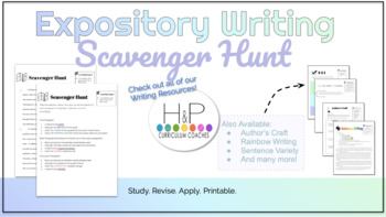 Expository Writing: Scavenger Hunt