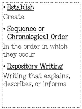 Expository Writing-Sequence