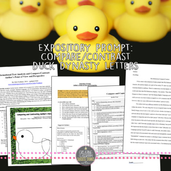 Explantory Compare and Contrast Author's Perspective Sample Essay, Duck Dynasty