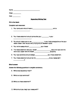 Expository Writing Test (STAAR/EOC)