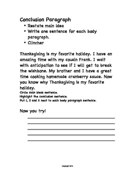 Expository Writing Thanksgiving Theme