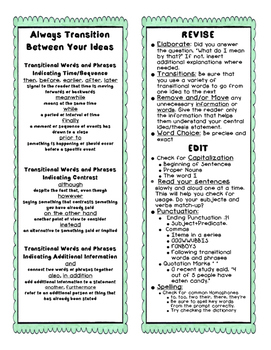 Expository Writing Toolbox and/or Lap Book