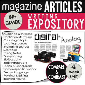 Expository Writing Unit Grade 6 CCSS