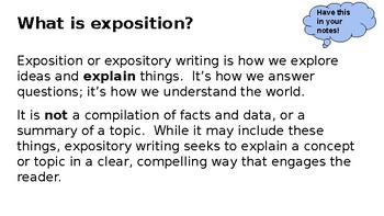 Expository Writing Unit with Immersion- Prep Free!