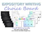 Expository Writing Virtual Choice Board