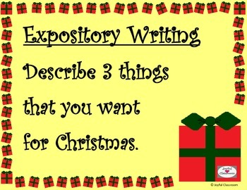 Expository Writing- What do you want for Christmas?