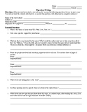 Expository Writing Worksheet