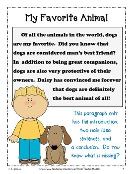 Expository Writing - Write About Your Favorite Animal