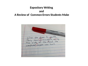 Expository Writing and Common Errors Students Make