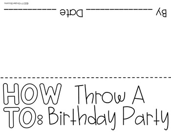 Expository Writing and How To Writing {Birthday Party}
