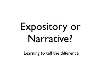 Expository Writing and Narrative Writing