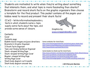 Expository Writing for Grade 1 -  Shark Facts Attack!