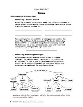 Expository Writing:The Writing Proc:Paraphrasing&Summarizing/Final Project:Essay