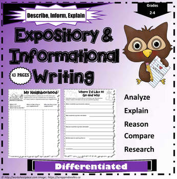 Expository and Information Writing Worksheets